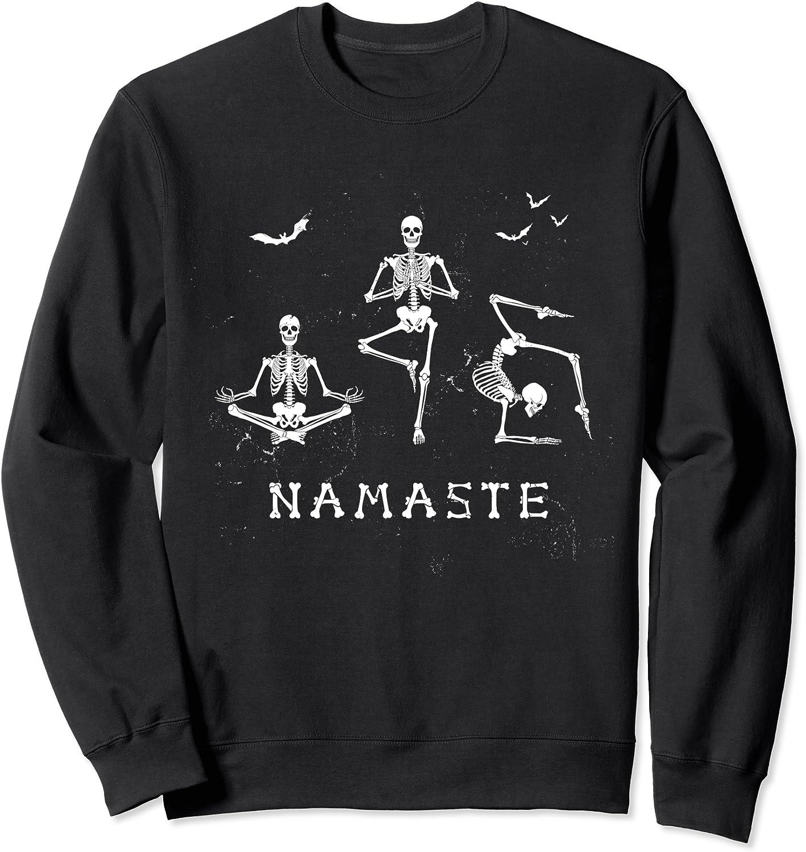 Namaste Yoga Skeleton Halloween T-shirt or Hoodie or Sweatshirt