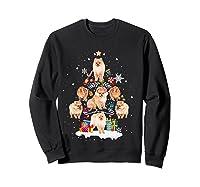 Pomeranian Christmas Tree Gift Xmas Holiday Shirts Sweatshirt Black