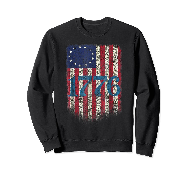 Betsy Ross Shirt 4th Of July American Flag Tshirt 1776 Crewneck Sweater