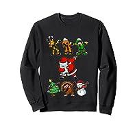 Dabbing Santa Friends Christmas Girls Xmas Gifts Shirts Sweatshirt Black