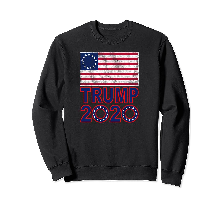 B Ross Flag Trump 2020 Star Design Shirts Crewneck Sweater