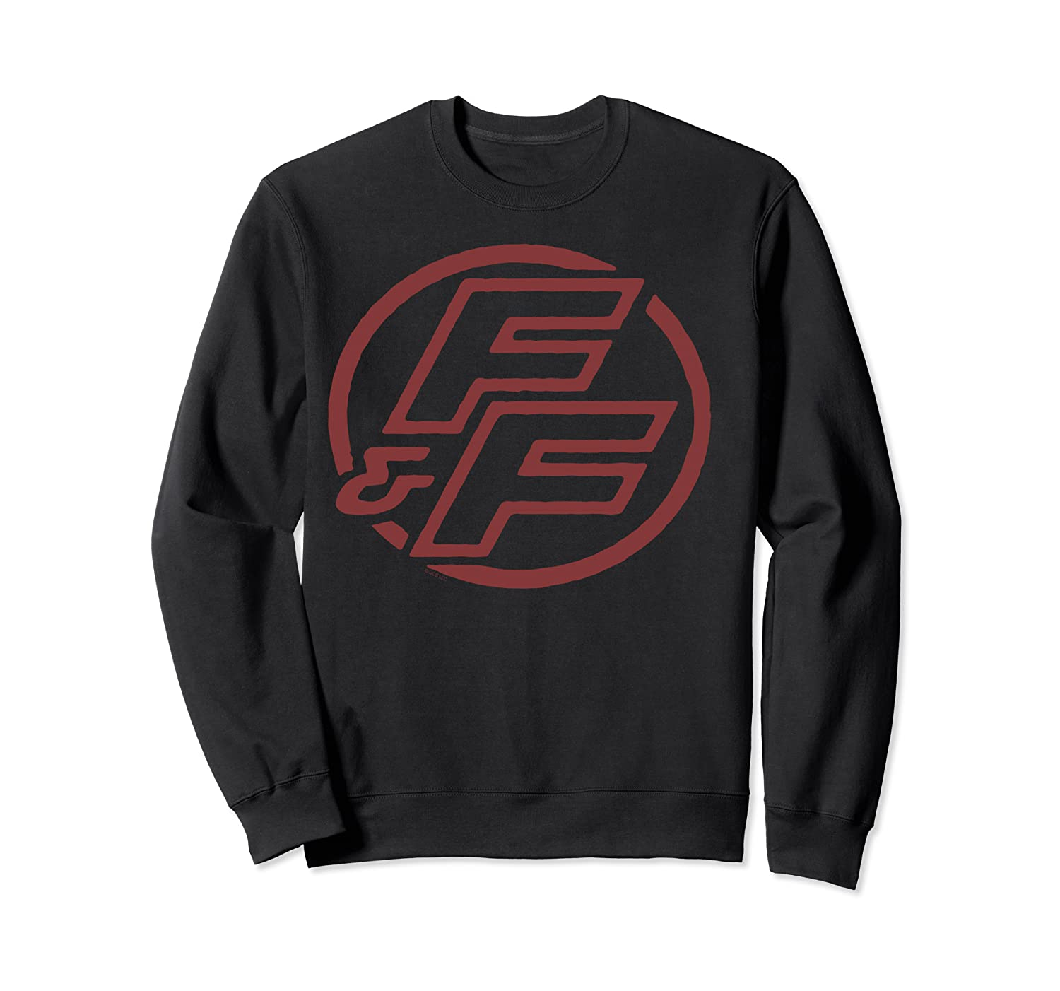 Fast Furious Red Logo Outline Circle Logo Pullover Shirts Crewneck Sweater
