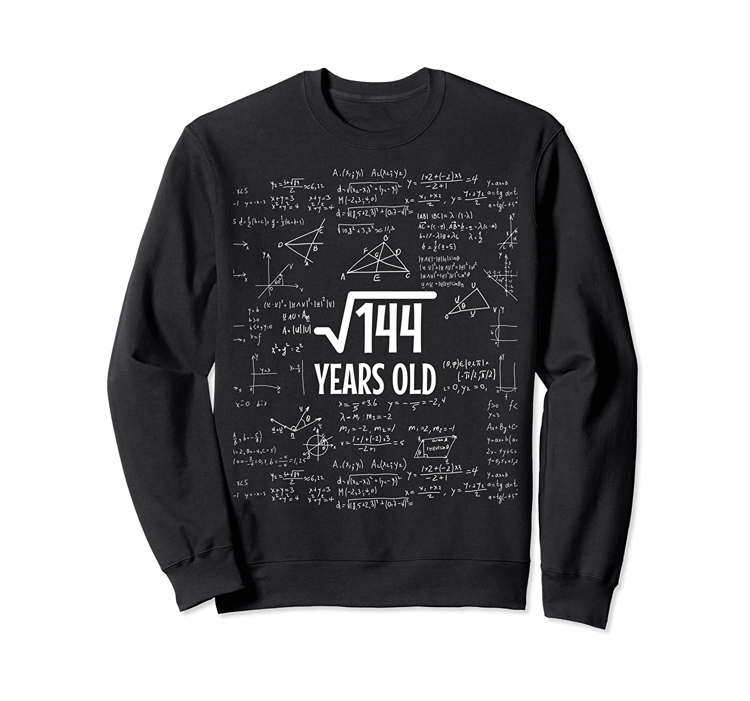 12 Year Old 12th Birthday Gifts for Boy or Girl Loves Math Sweatshirt