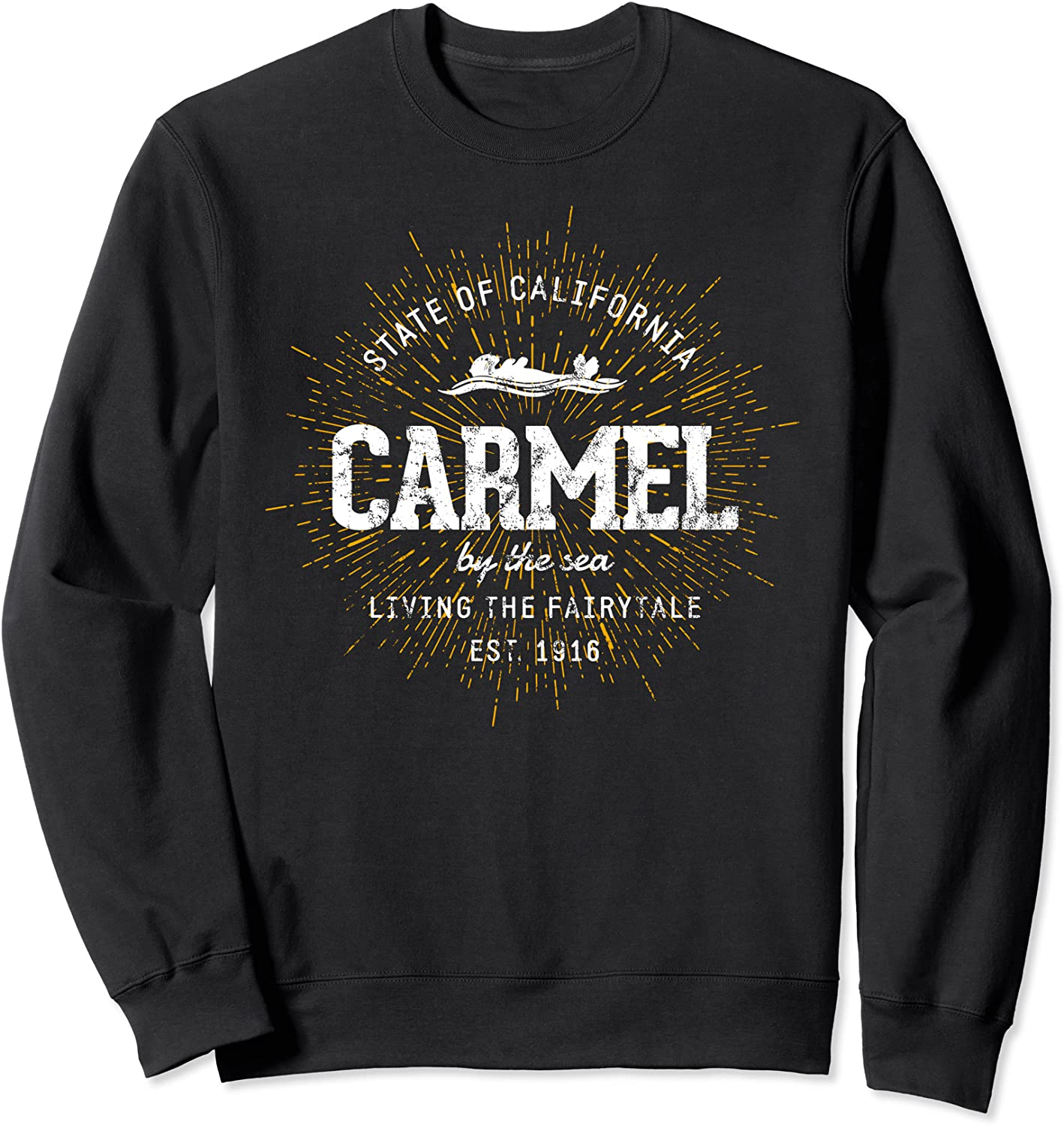 Retro Style Vintage Carmel by the Max 61% OFF Sea Manufacturer direct delivery Sweatshirt