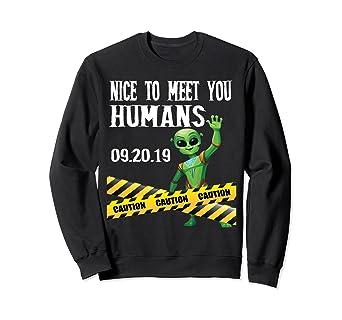 Amazon com: Storm Area 51 Alien Meet Humans Sweatshirt: Clothing