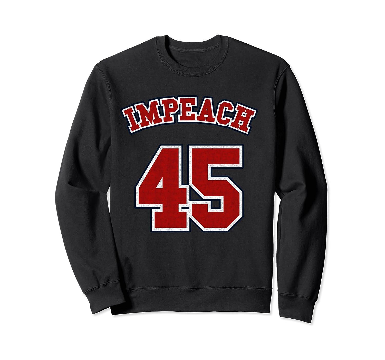 Anti Trump Red And Blue Retro Sports Style Impeach 45 T Shirt Crewneck Sweater