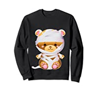 Mummy Bear Halloween Out Costume Party Gifts Pullover Shirts Sweatshirt Black