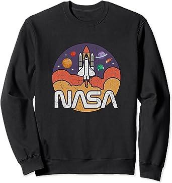 Astronomy NASA Retro Vintage Space Shuttle Sweatshirt