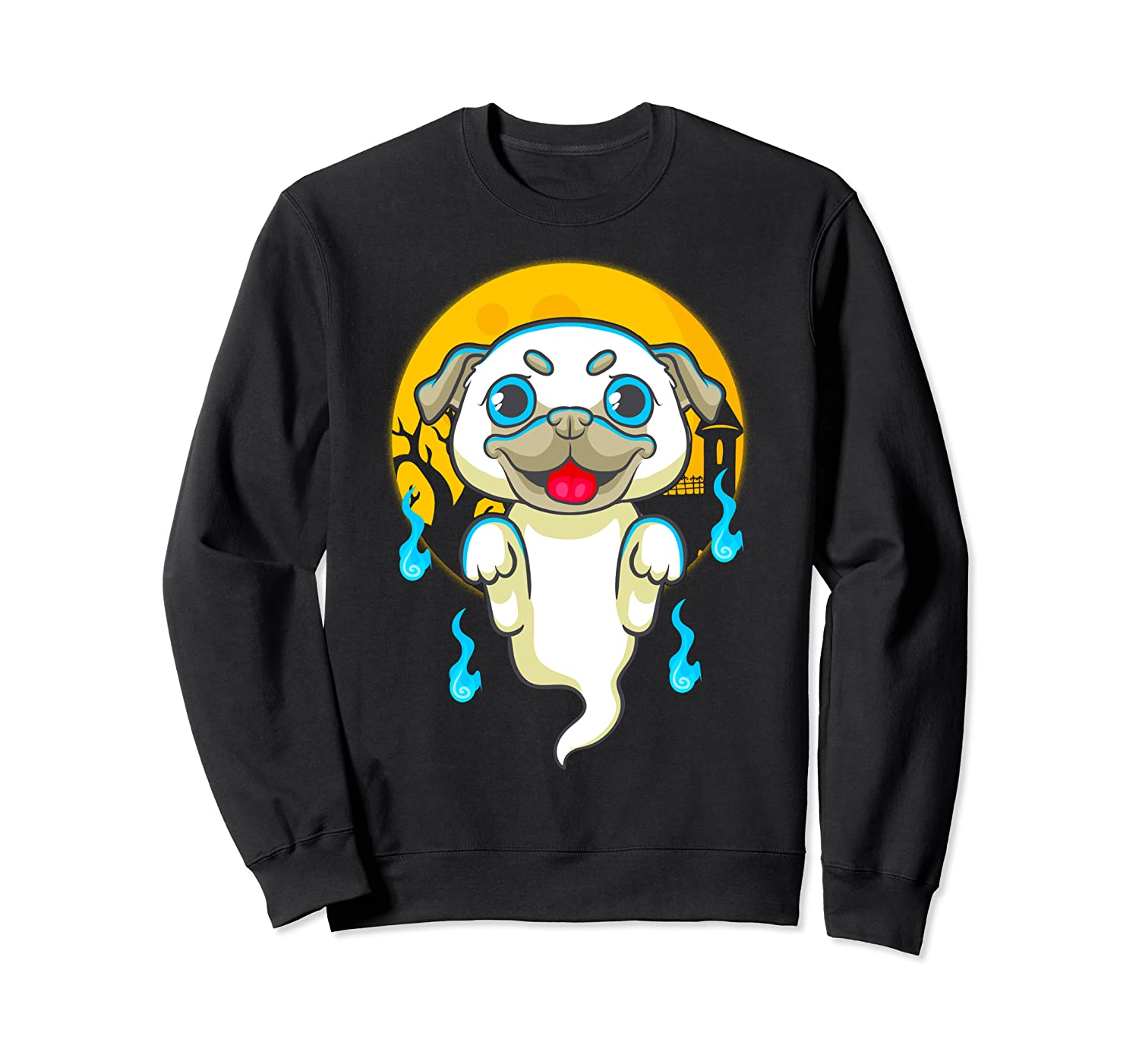Cute Pug Dog Lover Ghost Funny Halloween Costume Gifts Shirts