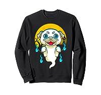 Cute Pug Dog Lover Ghost Funny Halloween Costume Gifts Shirts Sweatshirt Black