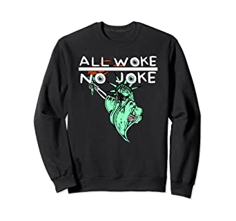 Amazon.com: All Woke No Joke Conspiracy Theory Statue Of ...