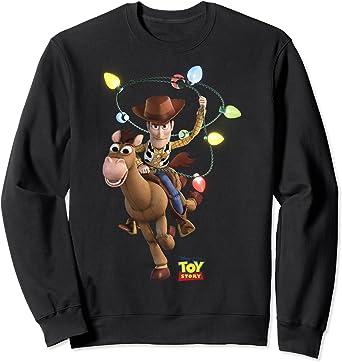 Disney Pixar Toy Story Woody Bullseye X-Mas Light Sweatshirt