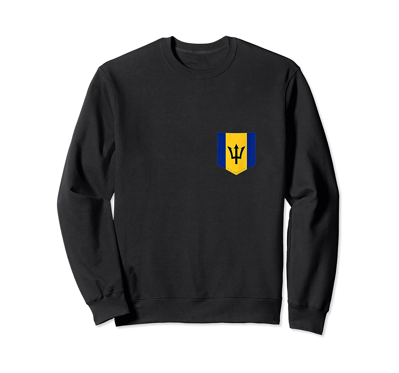 Barbados Flag Design With Printed Barbadian Flag Pocket Tank Top Shirts Crewneck Sweater