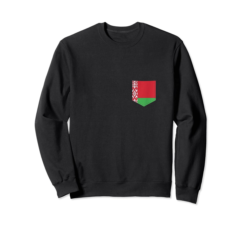 Belarus Flag Design With Printed Belarusian Flag Pocket Tank Top Shirts Crewneck Sweater