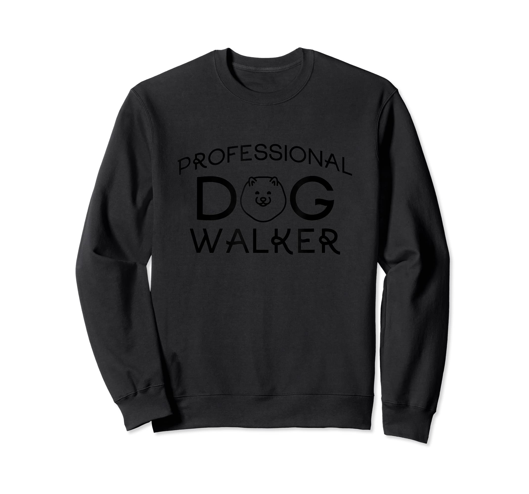 Professional Dog Walker Cute Puppy Tshirt Pet Lover T-Shirt-Sweatshirt-Black