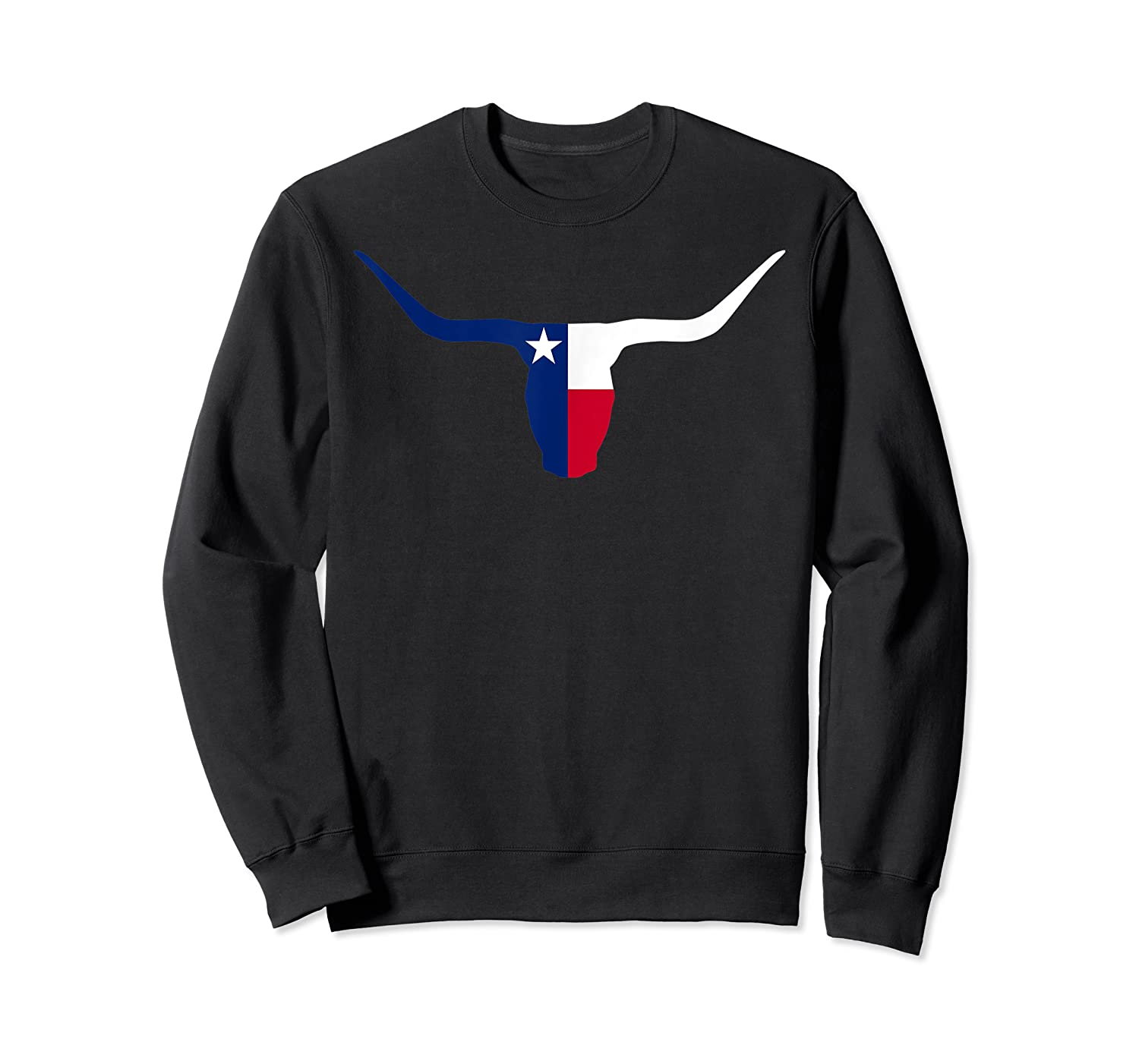 Cool Longhorn Bull Texas Flag Home State Shirts Crewneck Sweater