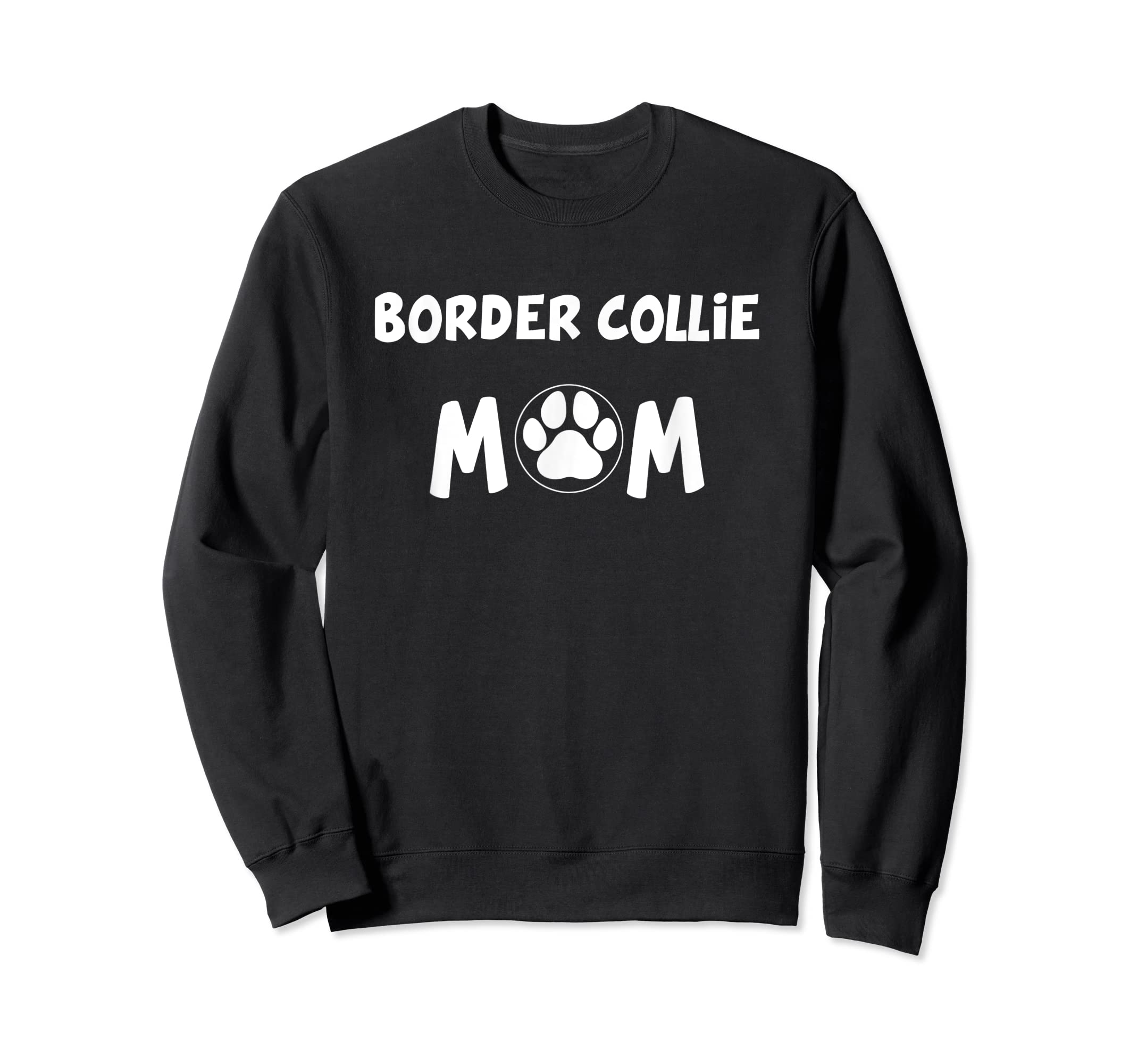Perfect Dog Mother Gift | Border Collie Mom T-Shirt-Sweatshirt-Black