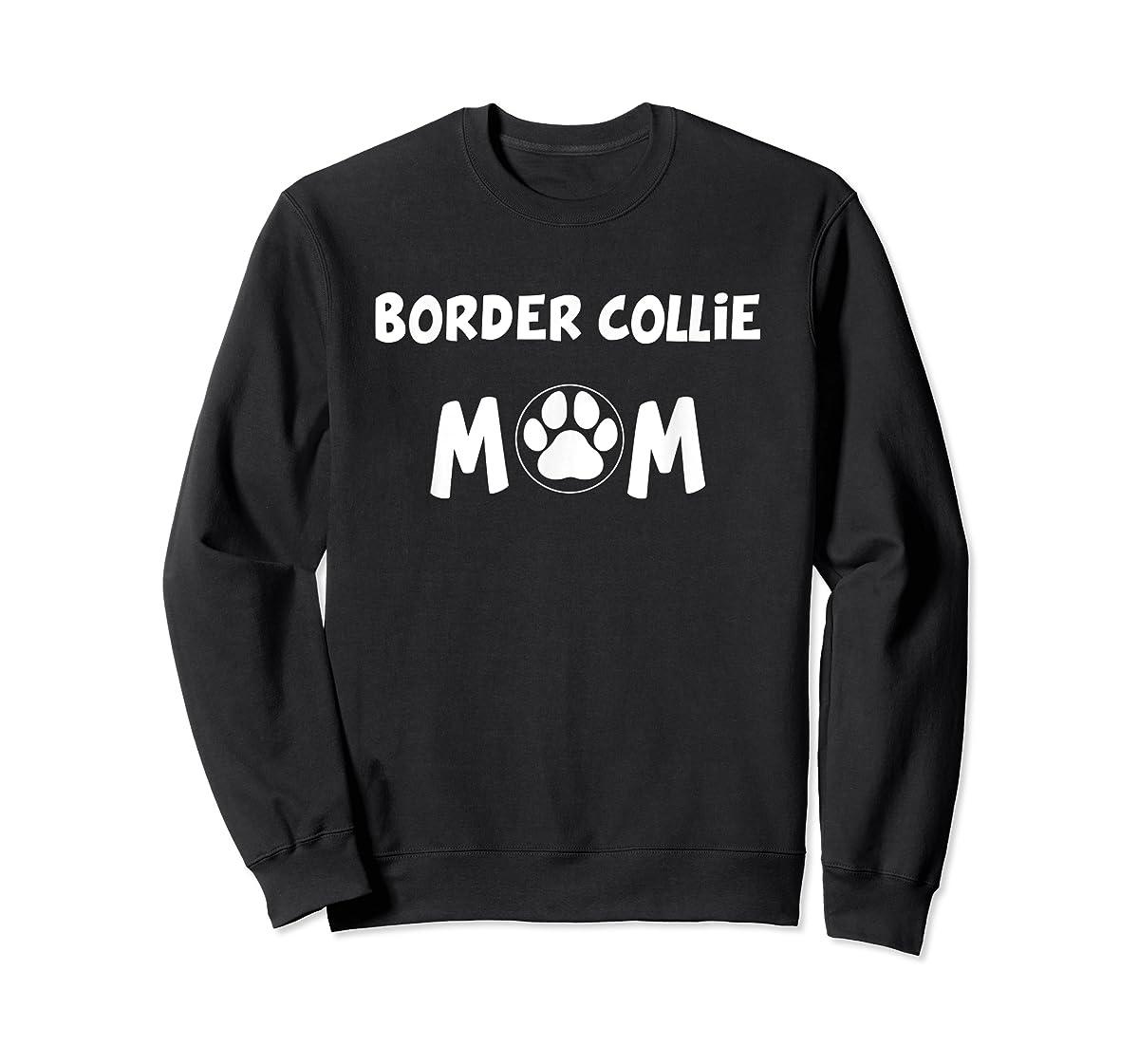 Perfect Dog Mother Gift | Border Collie Mom T-Shirt-Sweatshirt-Black