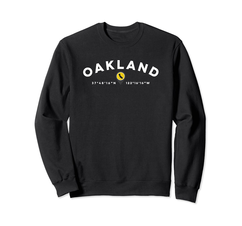 Oakland California Ca Graphic Map Shirts Crewneck Sweater