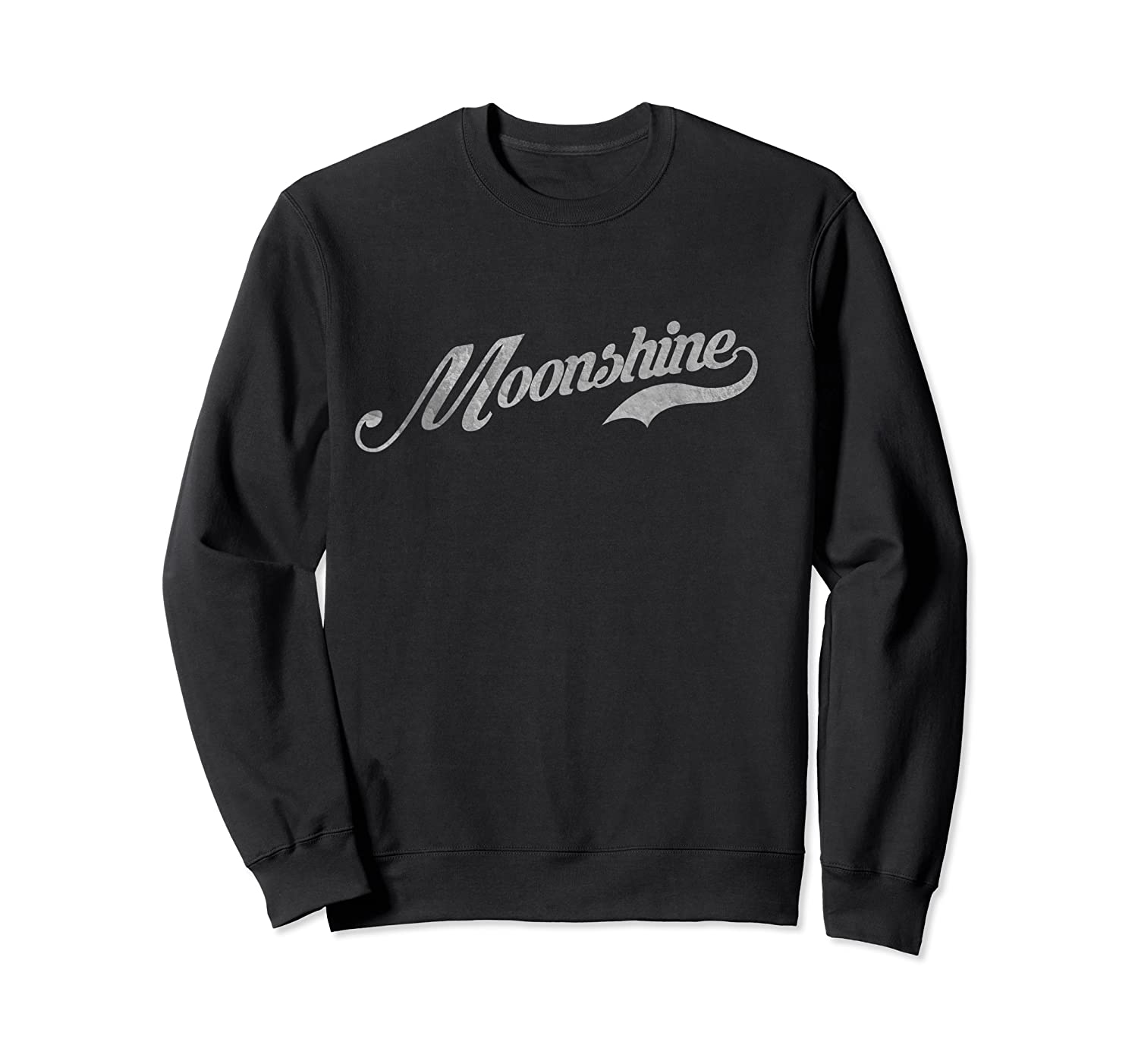 Distressed Moonshine Country Shirt Crewneck Sweater