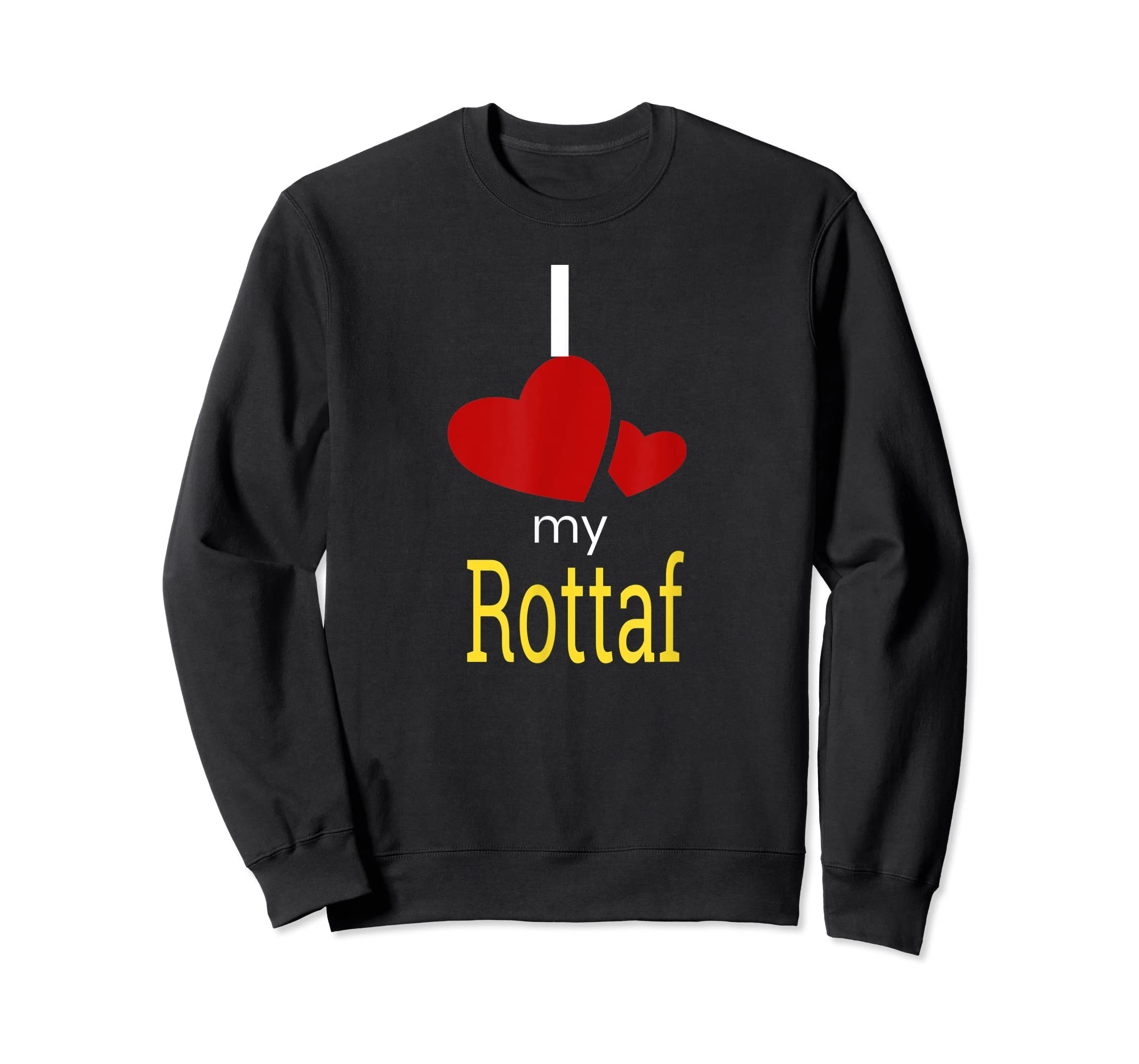 Rottaf Dog Shirt Love Rottweiler + Afghan Hound =  T-Shirt-Sweatshirt-Black