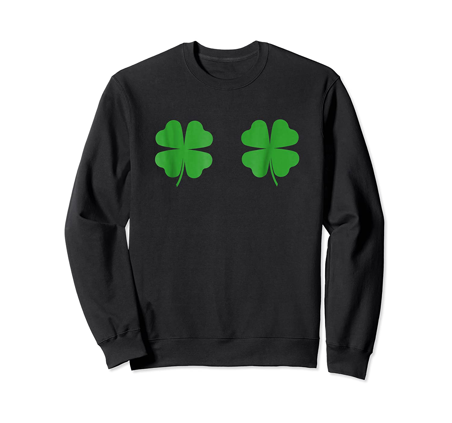 Two Clovers Tshirt Funny St Patrick S Day Boob Shirt Lucky Crewneck Sweater