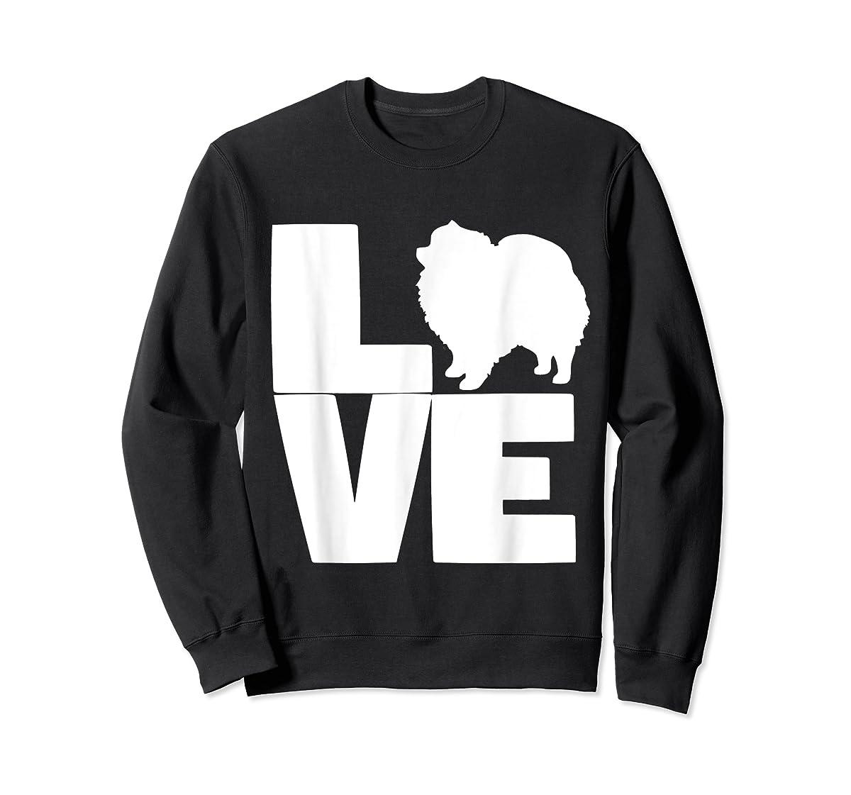 I Love Pomeranians Pom Mom or Dad Pet Lover T Shirt-Sweatshirt-Black