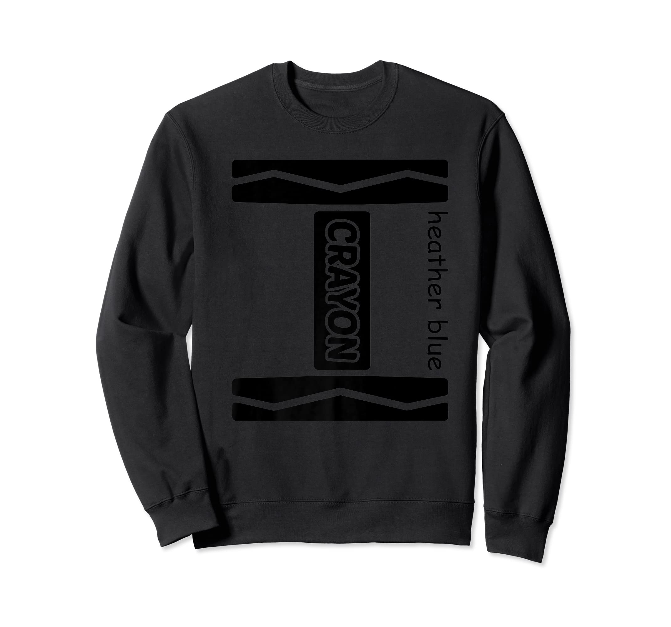 Heather Blue Crayon Halloween Costume Couple Friend Group Premium T-Shirt-Sweatshirt-Black