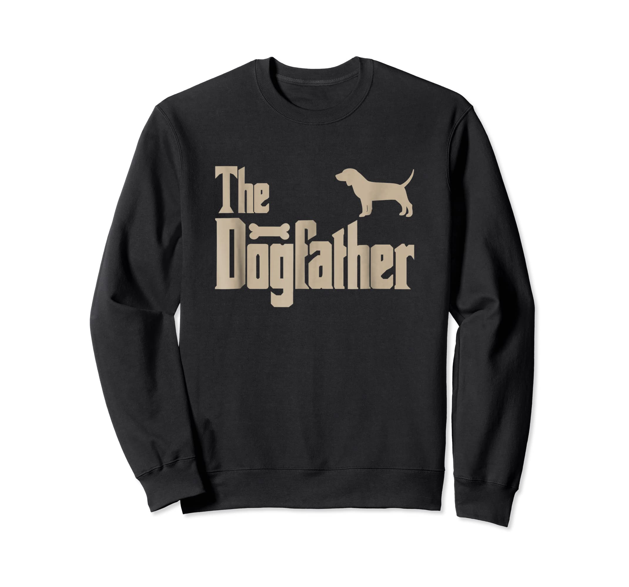 "Mens Beagle Dog Lovers Gifts ""The Dogfather"" Men Tee Shirts-Sweatshirt-Black"