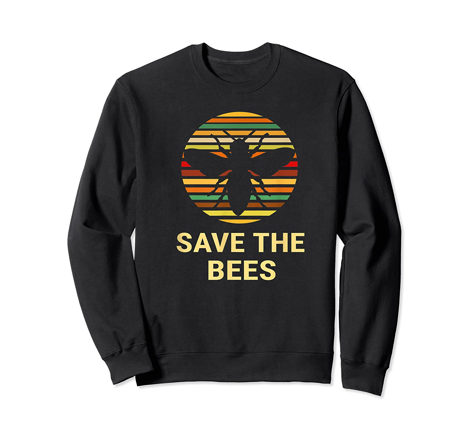 Save The Bees T Shirt Vintage Sunset Bees Gift Shirt Crewneck Sweater