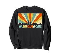 Albuquerque T Shirt City Skyline 70s Retro Souvenir Shirt Sweatshirt Black