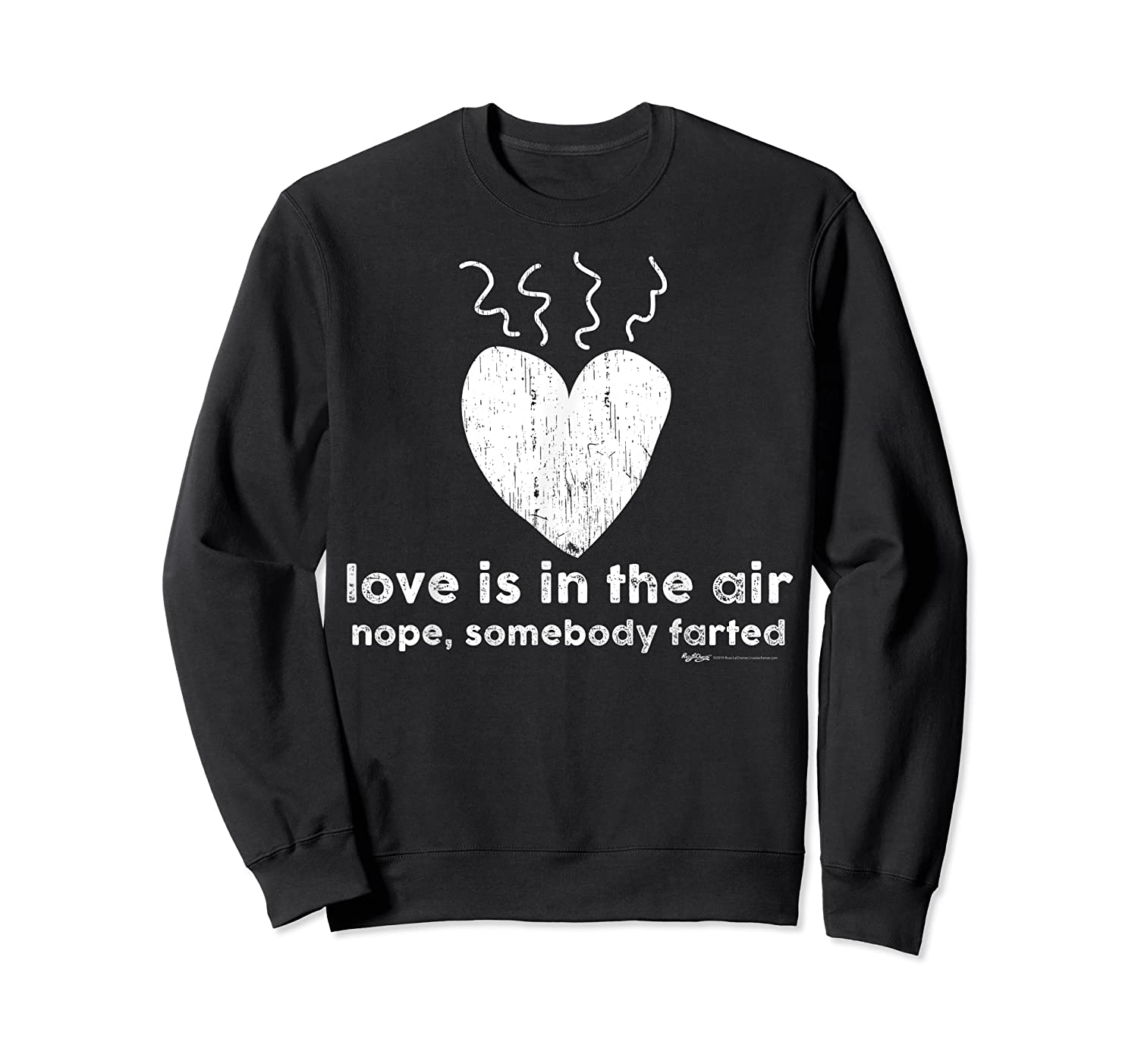 Vintage Love Is In The Air Nope Anti Valentines Day T Shirt Crewneck Sweater