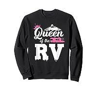 Queen Of The Rv Outdoor Camper Partner Gifts Shirts Sweatshirt Black