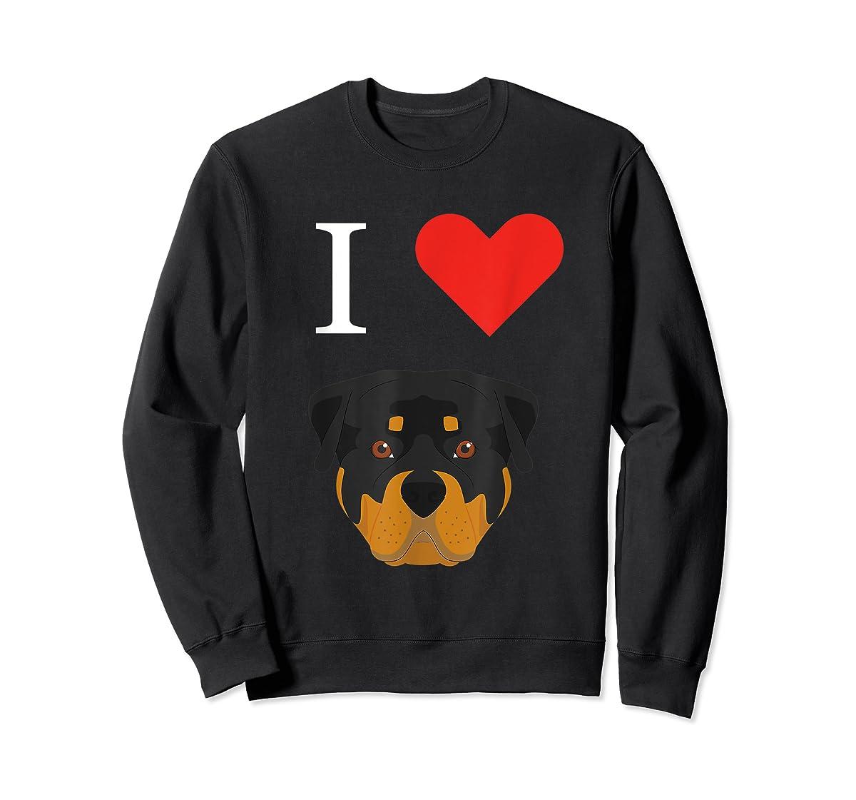 I Love My Rottweiler Dog T-Shirt-Sweatshirt-Black