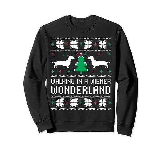 0c11bda2bc52 Amazon.com: Walking in a Weiner Wonderland Christmas with Dachshund ...
