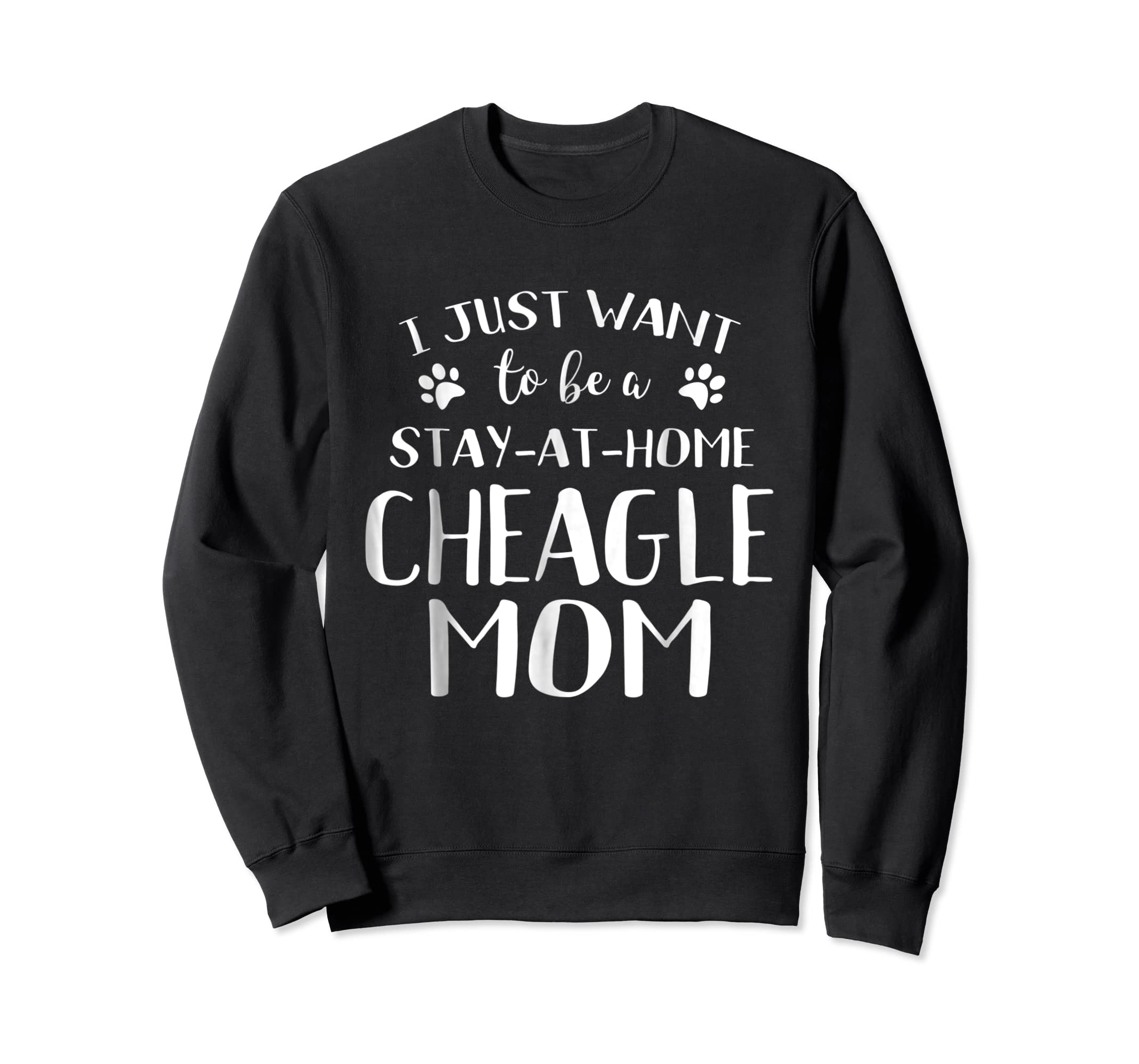 Cheagle Mom TShirt Cheagle Dog Breed Gift Pet Lover-Sweatshirt-Black