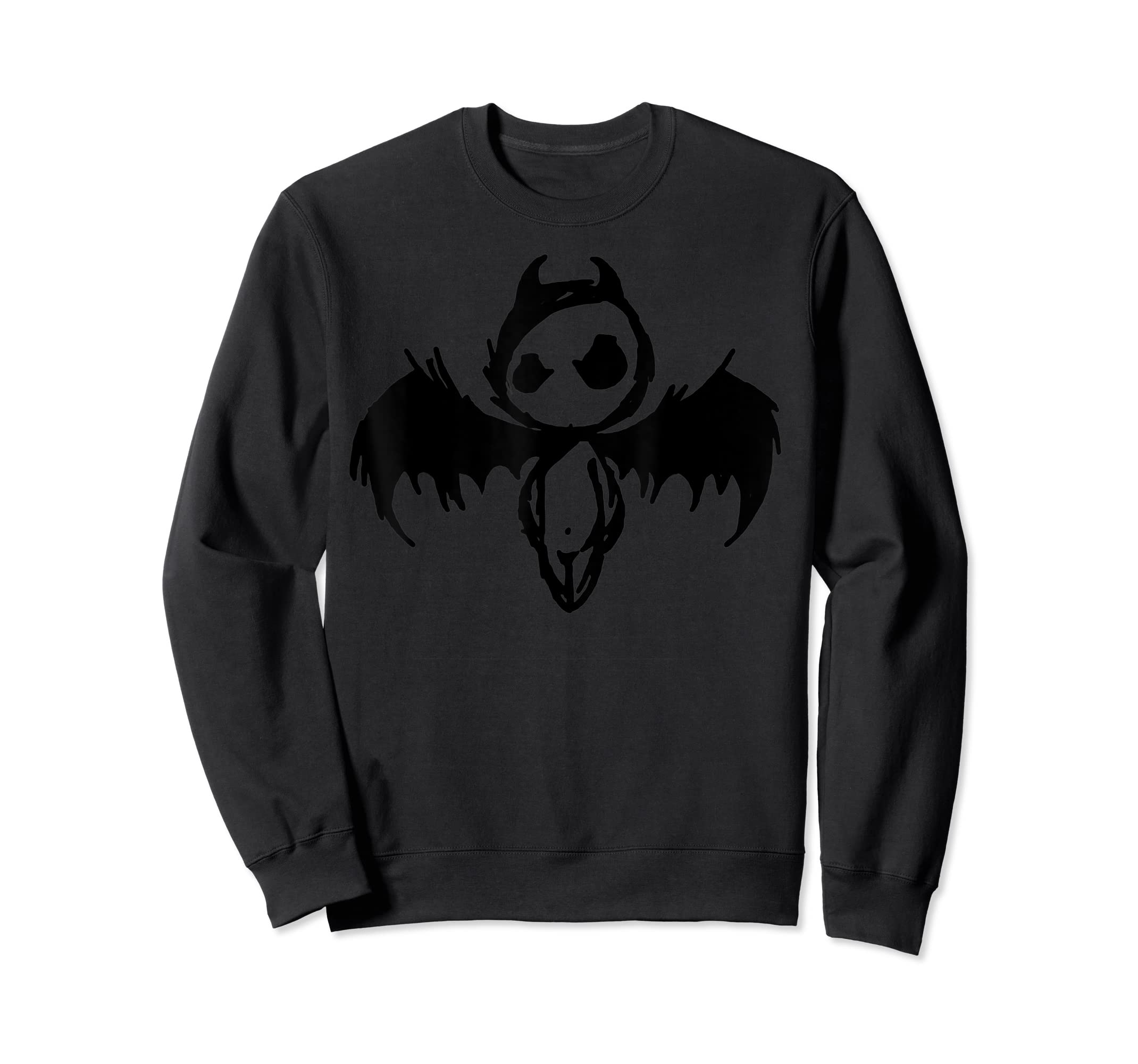 Cute Demon Vintage Couple Matching Halloween Party Costume  T-Shirt-Sweatshirt-Black