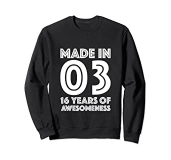 Image Unavailable Not Available For Color 16th Birthday Sweatshirt Boys Gifts 16 Year Old