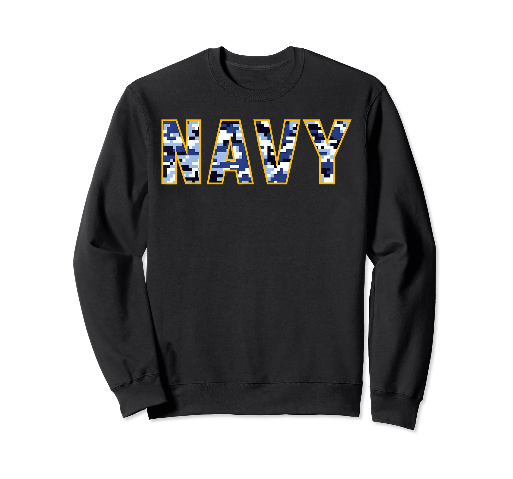 US Navy Camo Shirt Digital Camouflage Tee-Sweatshirt-Black