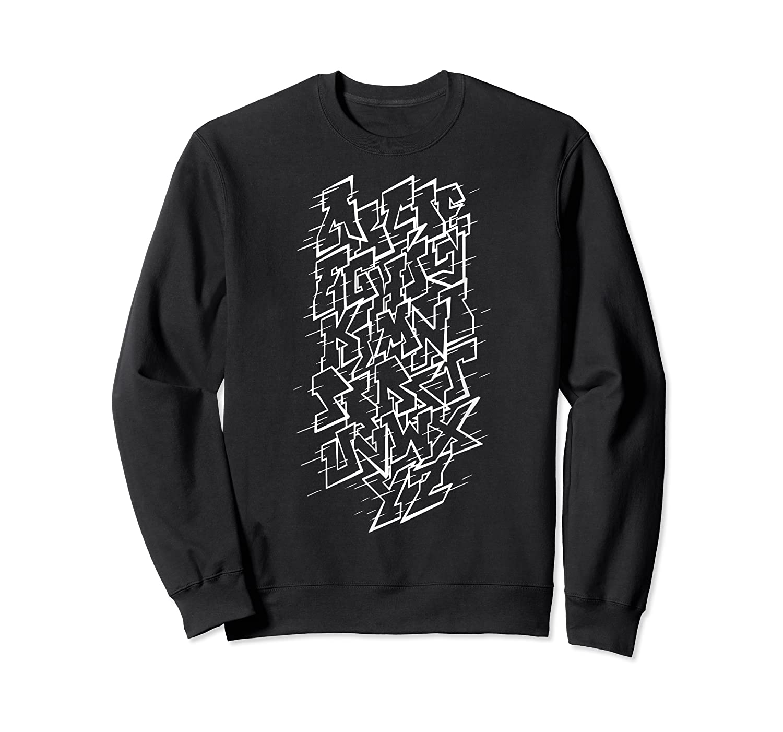 Grafi Tag Lettering Abc B-boy Streetart Urban Art T-shirt Crewneck Sweater