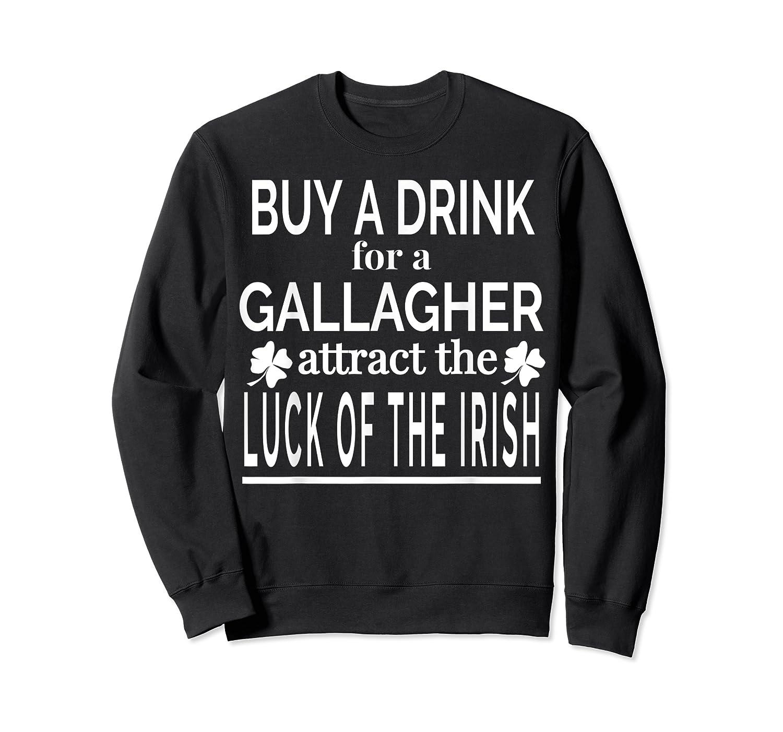 Gallagher Luck Of The Irish Namesake Family Gift T Shirt Crewneck Sweater