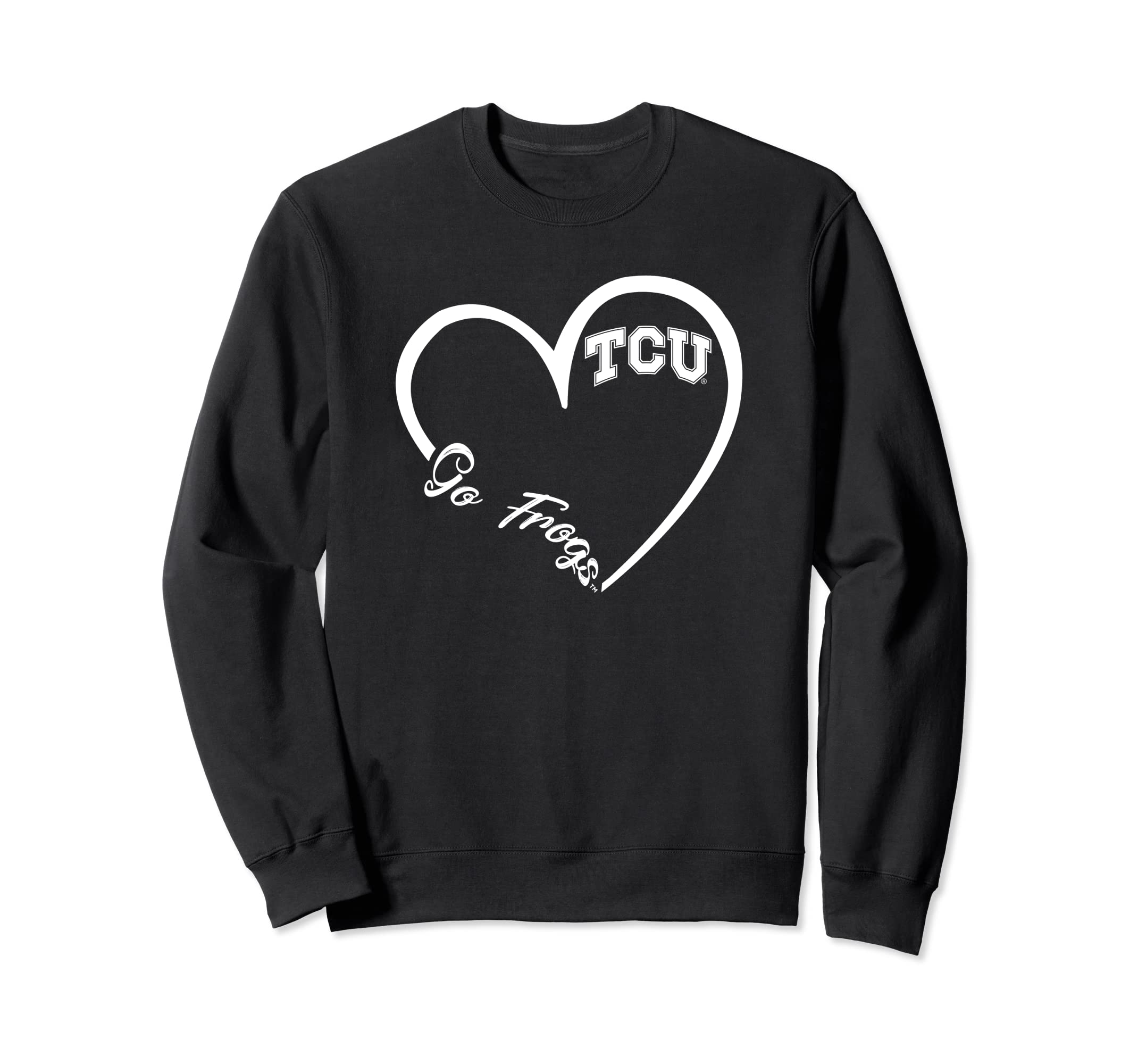 TCU Horned Frogs Heart 3/4 Sweatshirt - Apparel-SFL