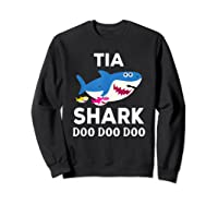 Tia Shark Doo Doo Doo Matching Family Shirts Sweatshirt Black