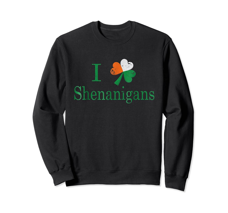 Saint Patrick S Day I Love Shenanigans Shamrock T Shirt Crewneck Sweater