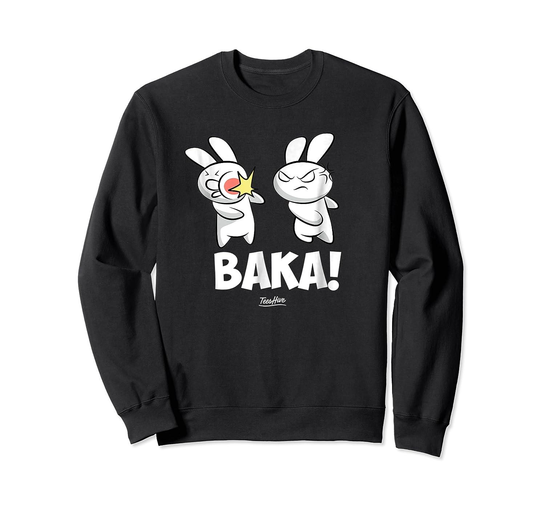 Funny Anime Baka Rabbit Baka Japanese Anime Lover Shirt Crewneck Sweater