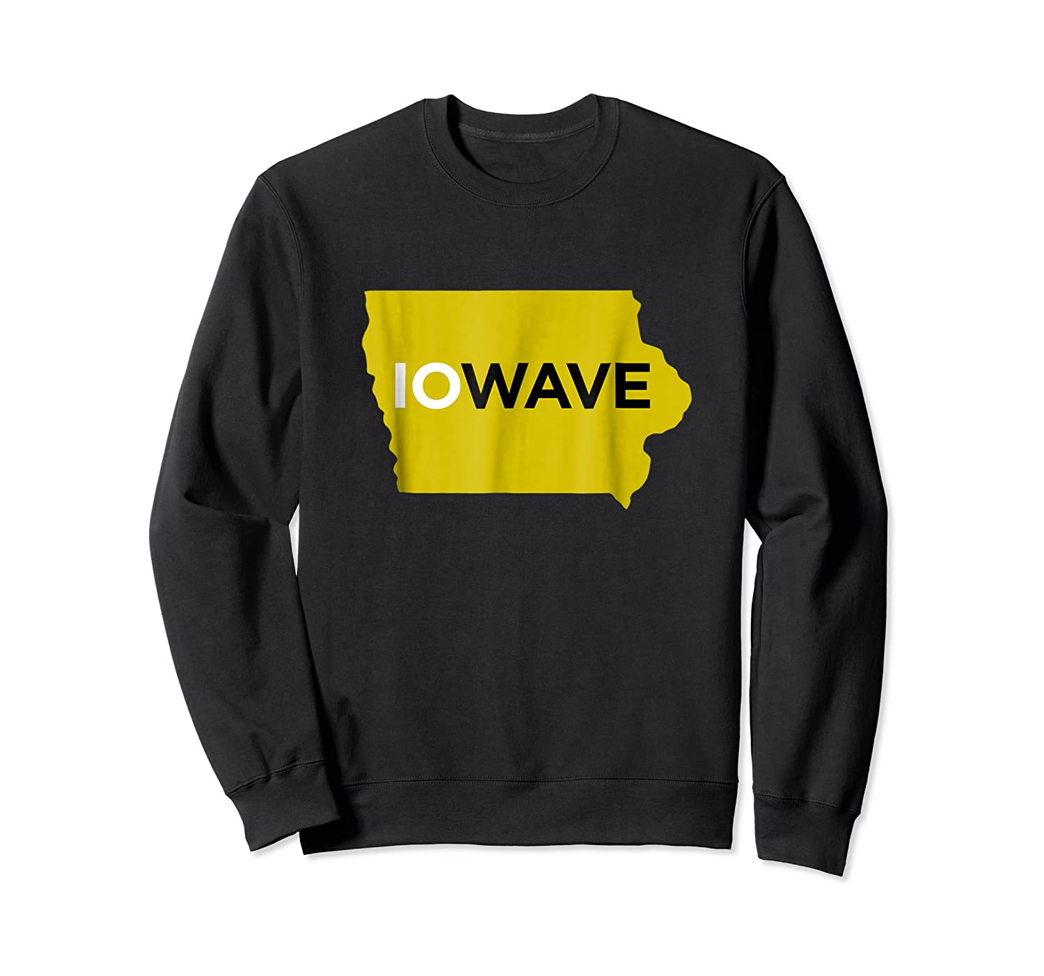 State Of Iowa Iowave Wave T For Fans And Residents Shirts Crewneck Sweater