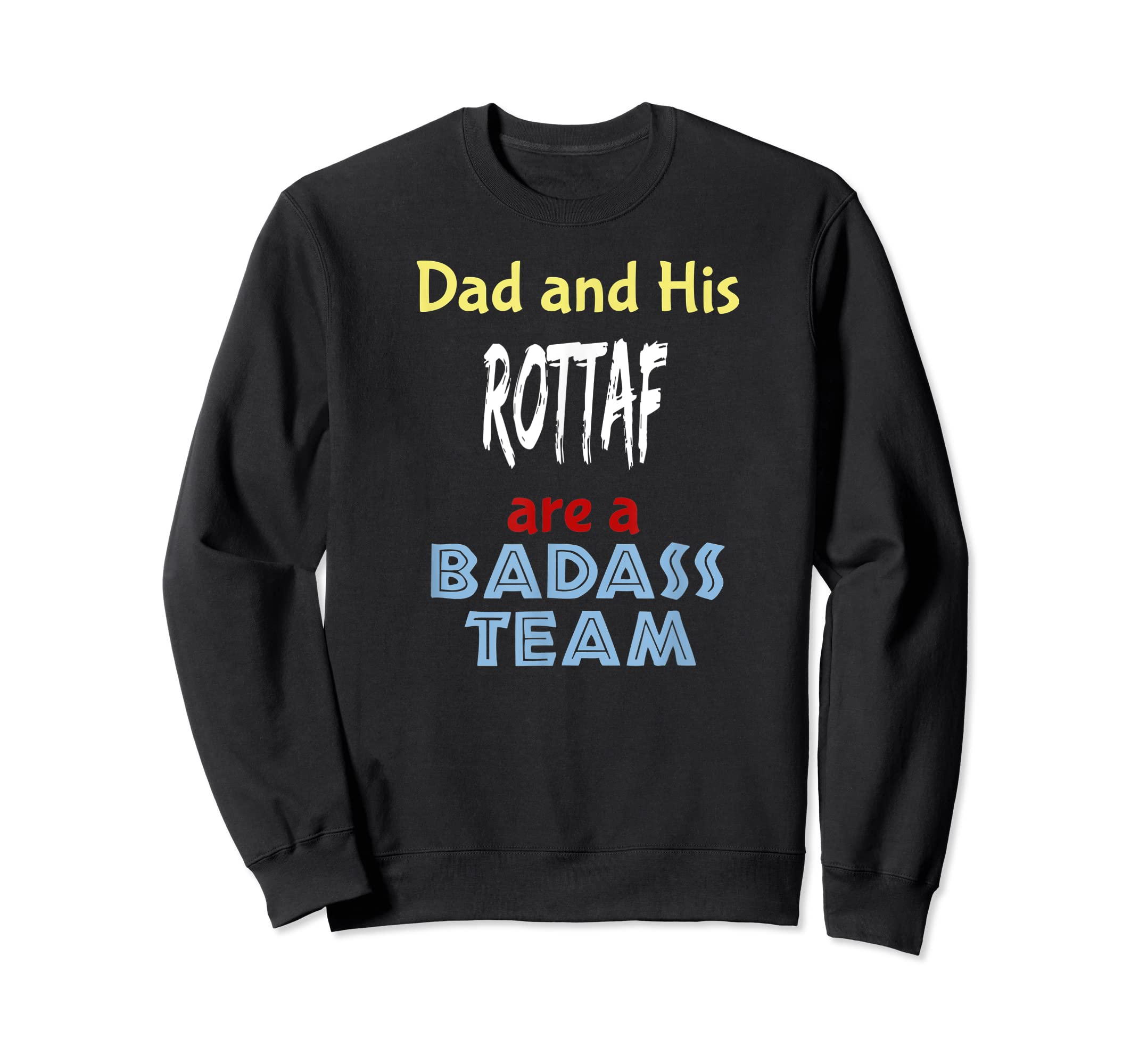 Mens Rottaf Dog Shirt Love Rottweiler + Afghan Hound =  T-Shirt-Sweatshirt-Black