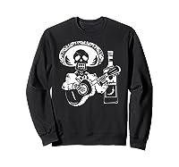 Mariachi Skeleton With Tequila Dia De Los Muertos Shirts Sweatshirt Black
