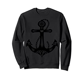 2ccfefb09f82c Image Unavailable. Image not available for. Color  Anchor With Sacred Rose  Sweatshirt