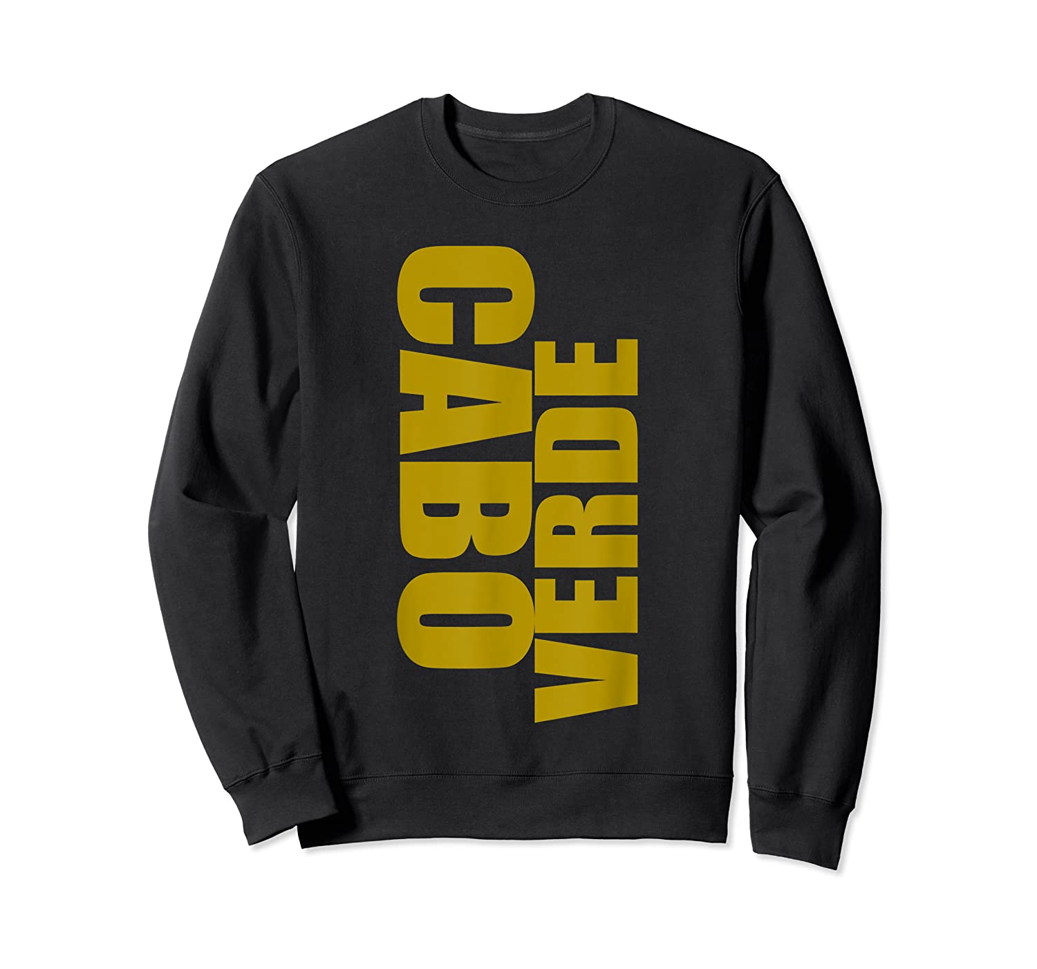 Cabo Verde Side Words Shirts Crewneck Sweater